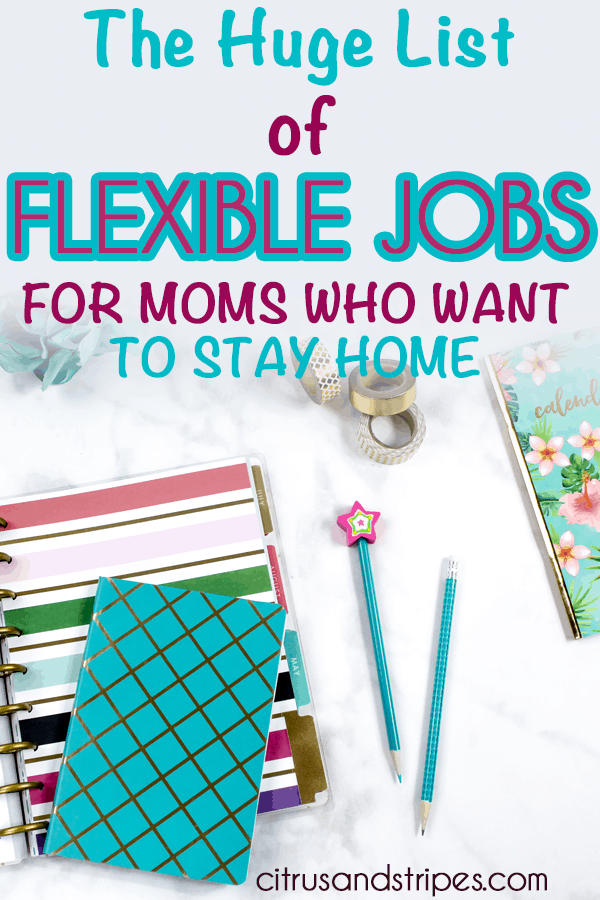 Flexible jobs to work from home