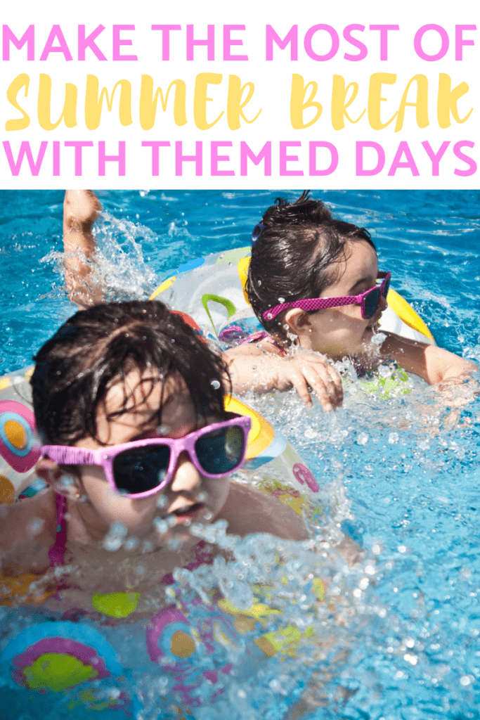 Make the most of summer vacation with this schedule of themed days! Stop hearing that they're bored by having a fun themed activity for each day! Less video games, more family fun! #summerbreak #summer #schoolisout