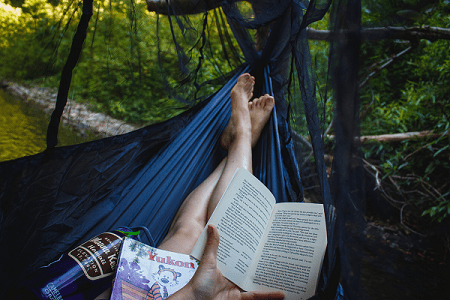 relax while camping