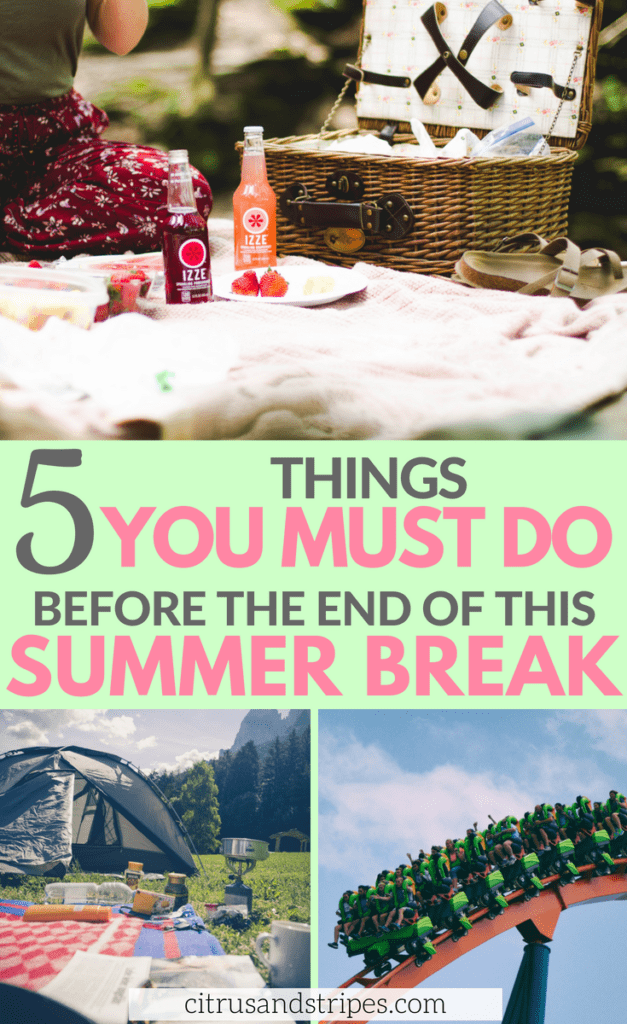 Have a blast the rest of Summer Break with these must-do activities! We only have so many summer breaks with our kids, make the most of every moment with this end of summer bucket list! #summer #summerbreak #endofsummer #summeractivities