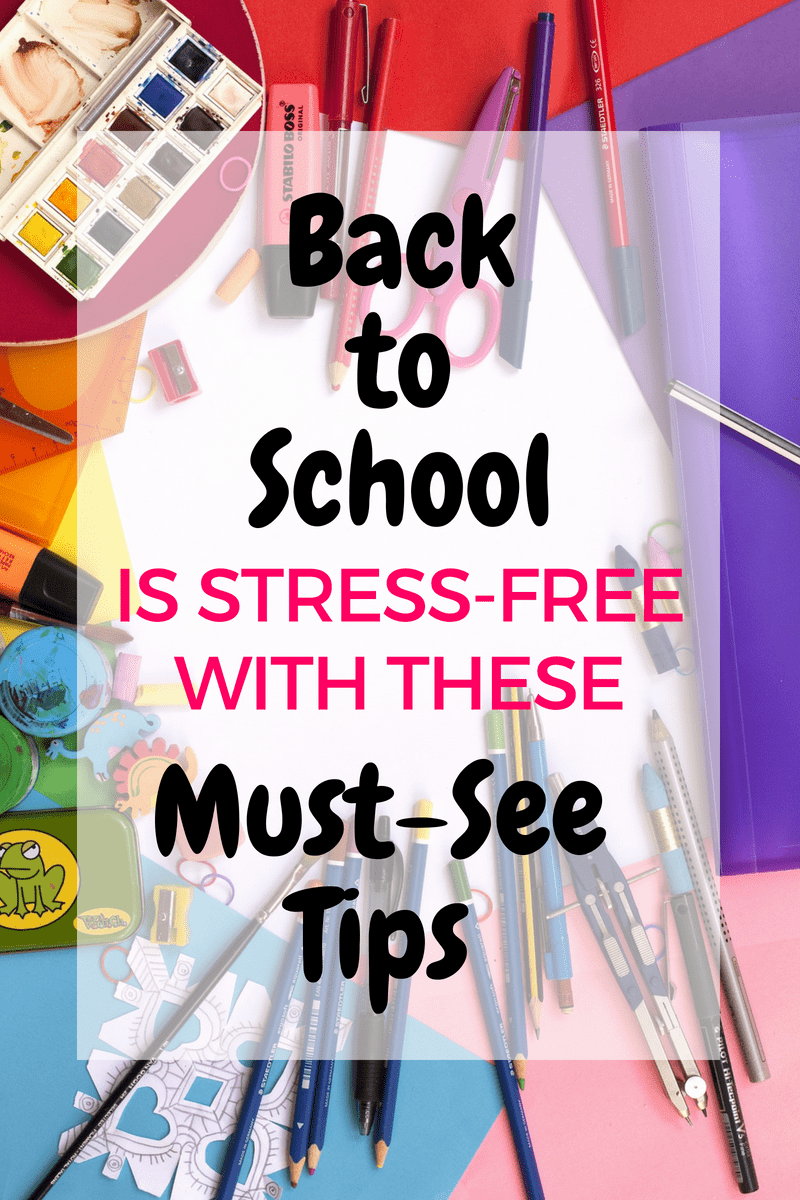 Back to school time doesn't have to be stressful! Use these ideas to be prepared for the coming school year. From school lunches, to homework spaces, to school physicals. Be organized and prepared with these tips and ideas! Also includes a free lunch planner and idea sheet!