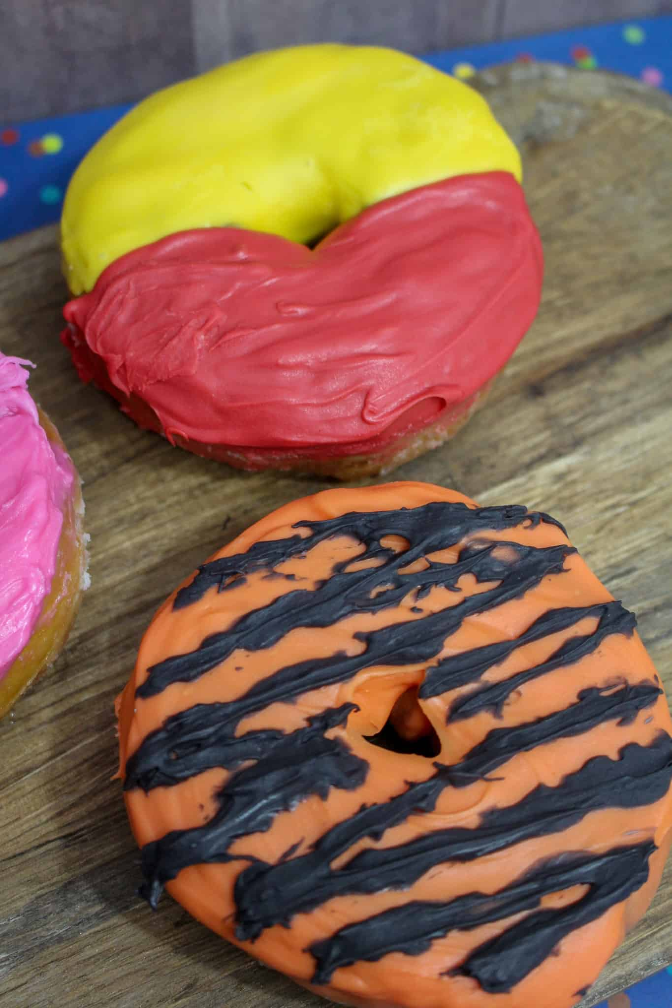 These Winnie the Pooh Doughnuts are the perfect treat for any kid! The Christopher Robin movie is full of great life lessons as well as inspiration for these delicious Winnie the Pooh Doughnuts! #Doughnuts #winniethepooh #breakfast #easybreakfast