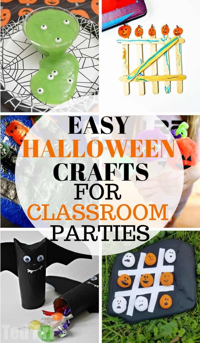 Halloween is the next big season, now that school is back in session! Classroom parties are one of the kids favorite times of the year due to those awesome crafts and games parents come up with. Check out these ideas for easy Halloween crafts for this year's classroom parties!