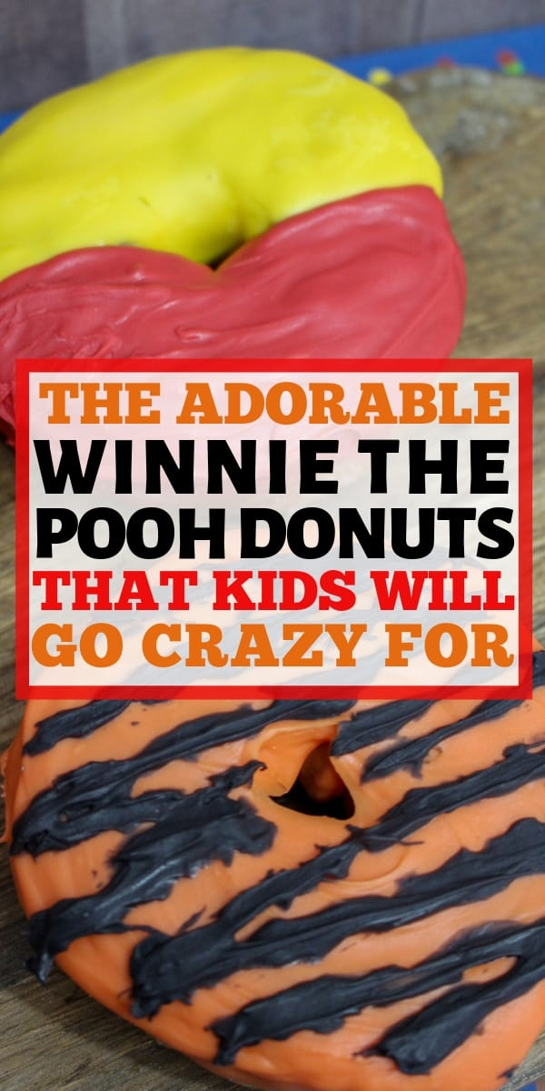 These Winnie the Pooh Doughnuts are the perfect treat for any kid! The Christopher Robin movie is full of great life lessons as well as inspiration for these delicious Winnie the Pooh Donuts! #Donuts #winniethepooh #breakfast #easybreakfast