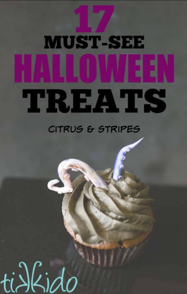 Halloween Treats galore! This list is some of the most incredibly unique and delicious Halloween desserts you'll find! #halloween #halloweentreats #desserts #halloweenfood
