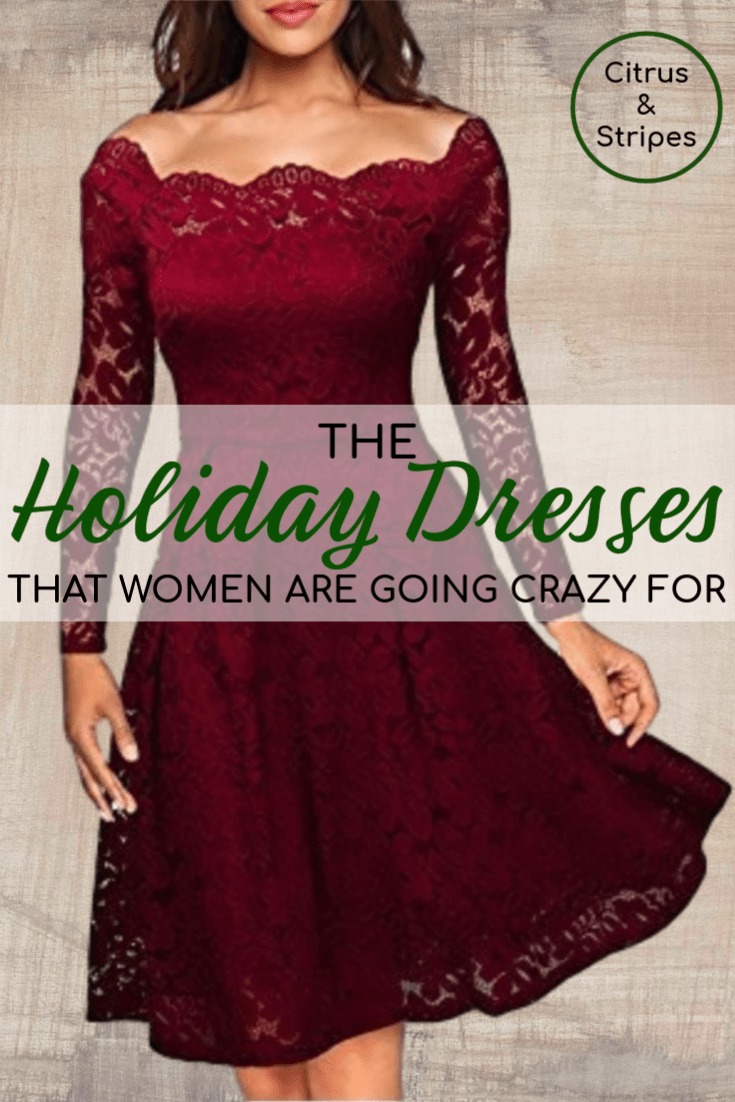 These holiday dresses are getting rave reviews on Amazon. Women are going crazy over the affordable and trendy styles that are perfect for this holiday season! #Christmas #holiday #dresses #winterfashion #winteroutfits