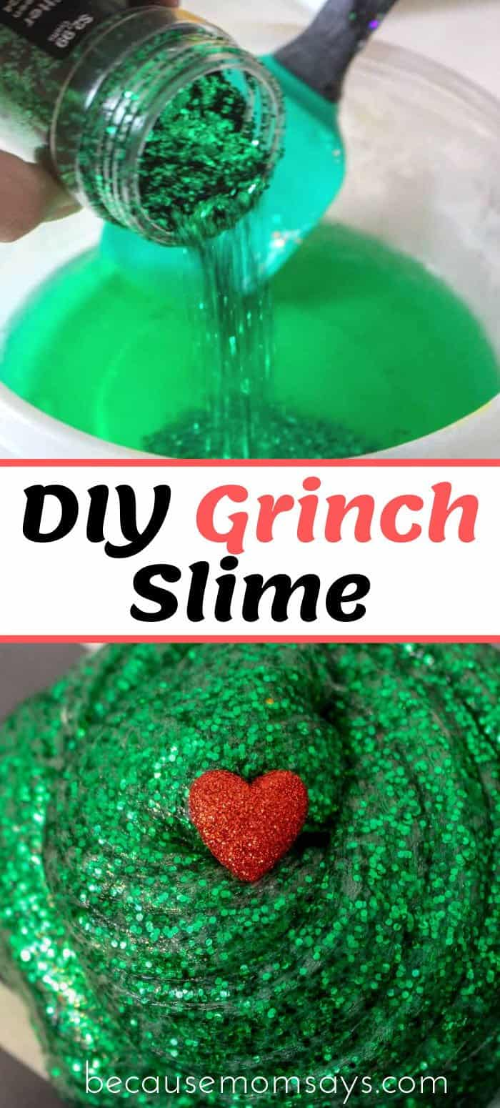 Christmas slime in the making