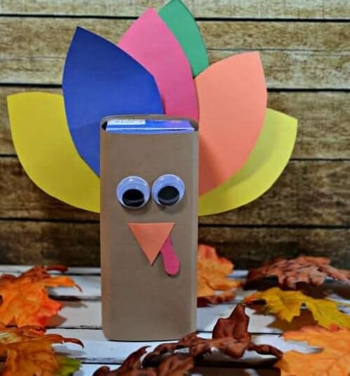 Thanksgiving crafts - juice box turkey
