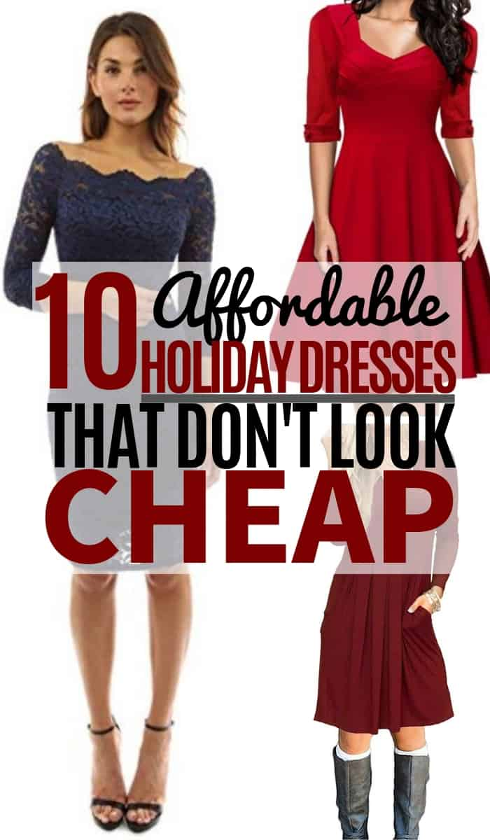 These holiday dresses are getting rave reviews on Amazon. Women are going crazy over the affordable and trendy styles that are perfect for this holiday season! #christmas #christmasdress #dresses #christmasfashion