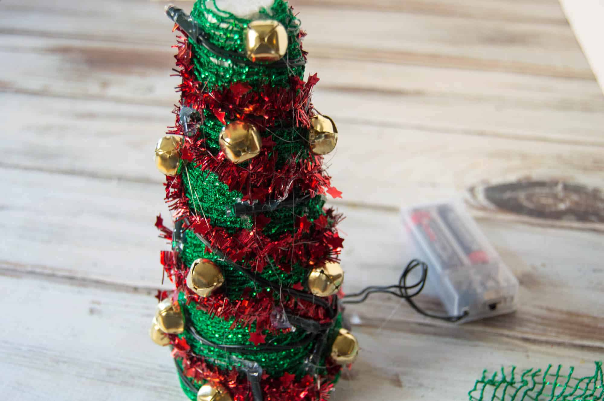 Dollar Tree Christmas Craft Light Up Christmas Tree