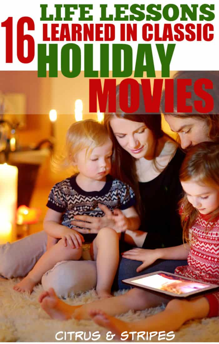 Christmas movies warm our hearts and bring us joy and cheer this time of year. We often learn valuable life lessons from some of our favorite holiday movies. This is a collection of the best lessons learned from some of the top Christmas movies for families! #christmasmovies #christmas #lifelessons #moralsatchristmas