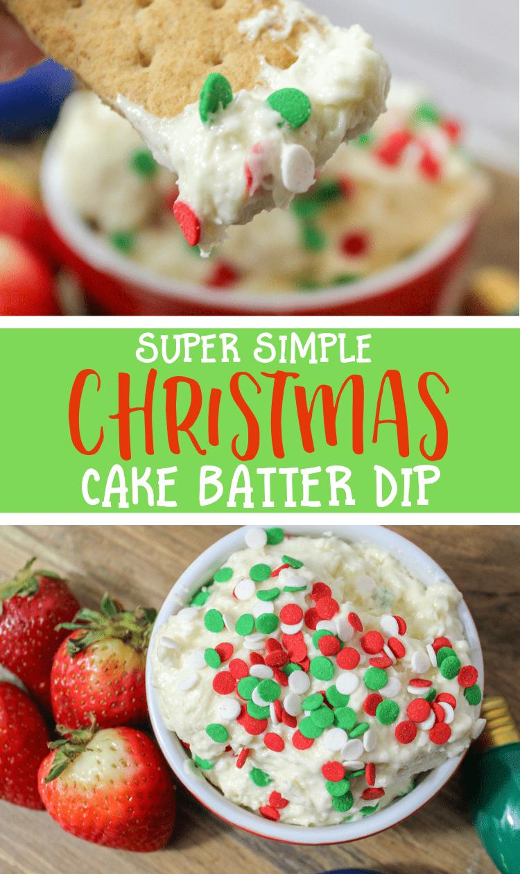 Christmas cake batter dip