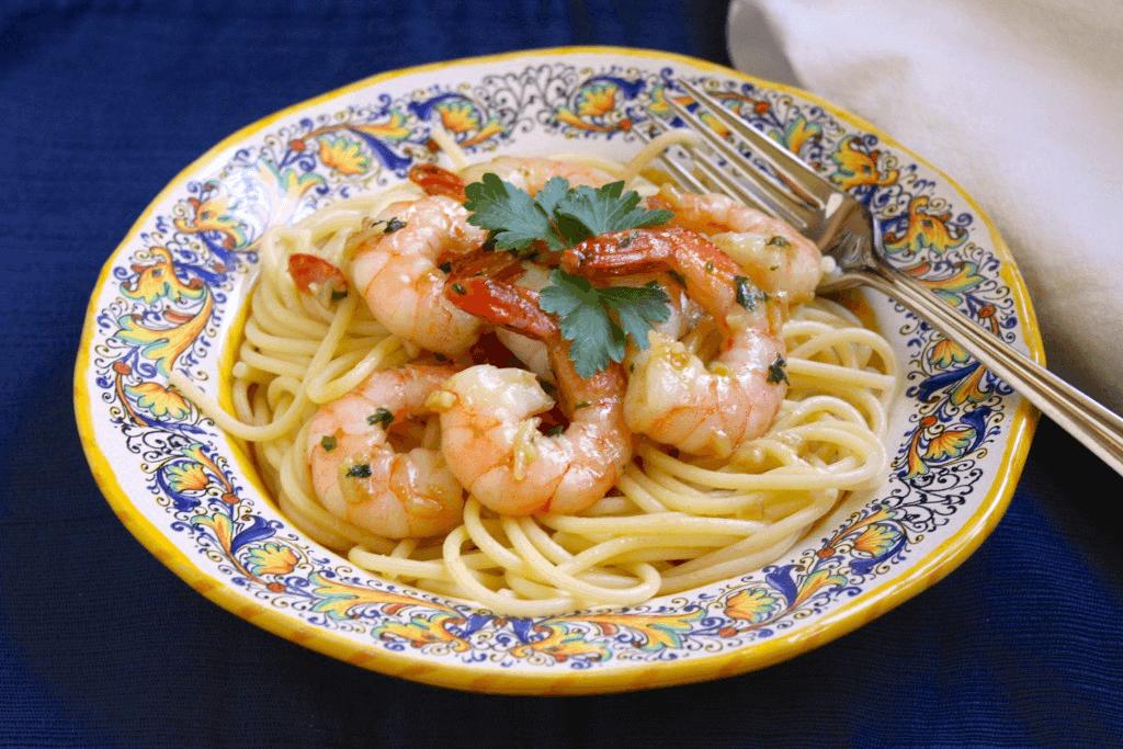 Garlic-Butter-Shrimp-Spaghetti