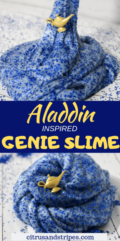 Aladdin Genie Slime Recipe for Kids