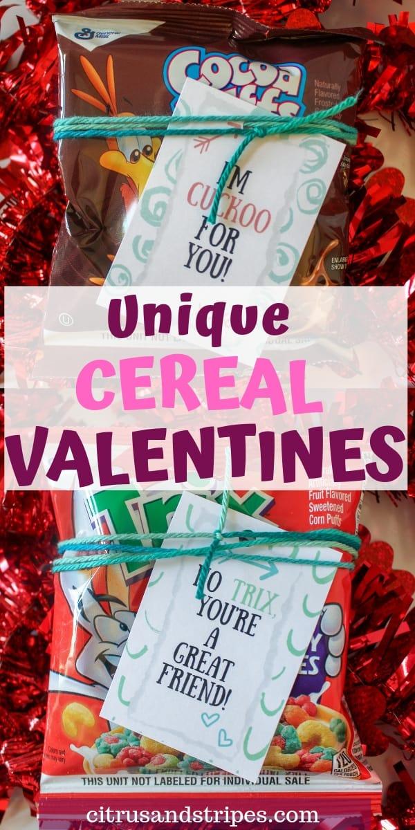 Cereal Valentines