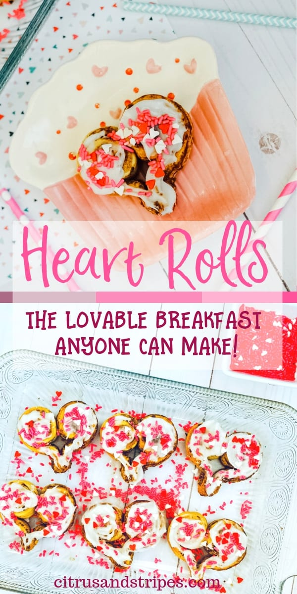 Heart Rolls make the perfect Valentine's Day Breakfast!