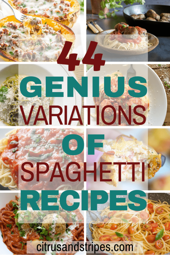 Genius spaghetti recipes