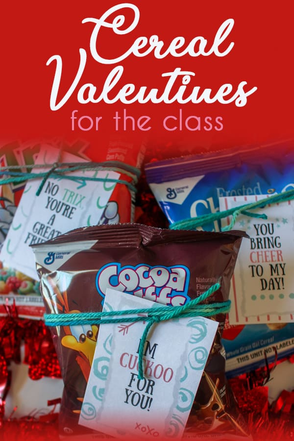 Cereal Valentines for class