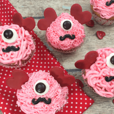 Valentine's Day Monster Cupcakes