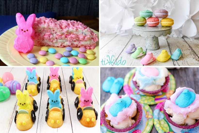 Peeps make great Easter desserts. Kids love these ideas!