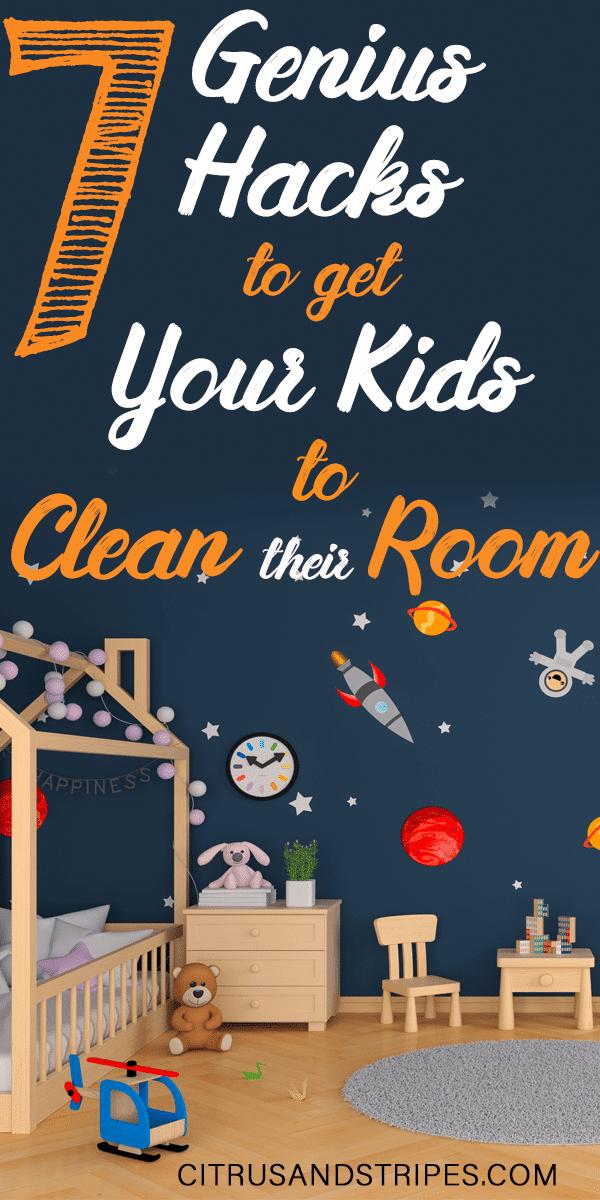 Hacks to clean kids room