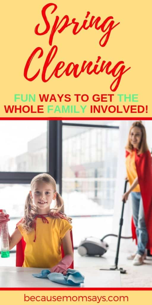 Spring Cleaning tips for involving the entire family using fun rewards and games!