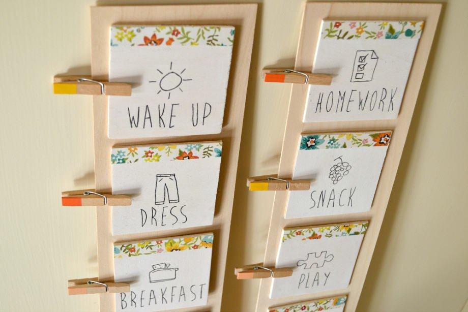 Routine charts help keep summer days with kids on track