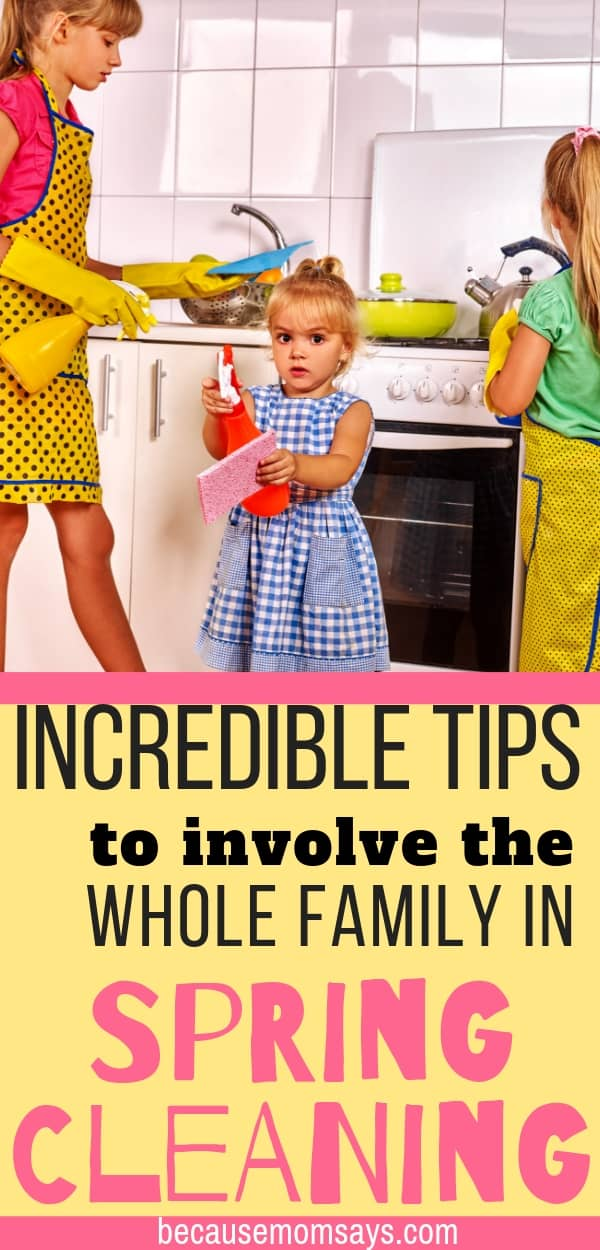 Spring cleaning can't be avoided. Make it easier by involving the kids using these fun game ideas and other awesome tips for the spring clean up!
