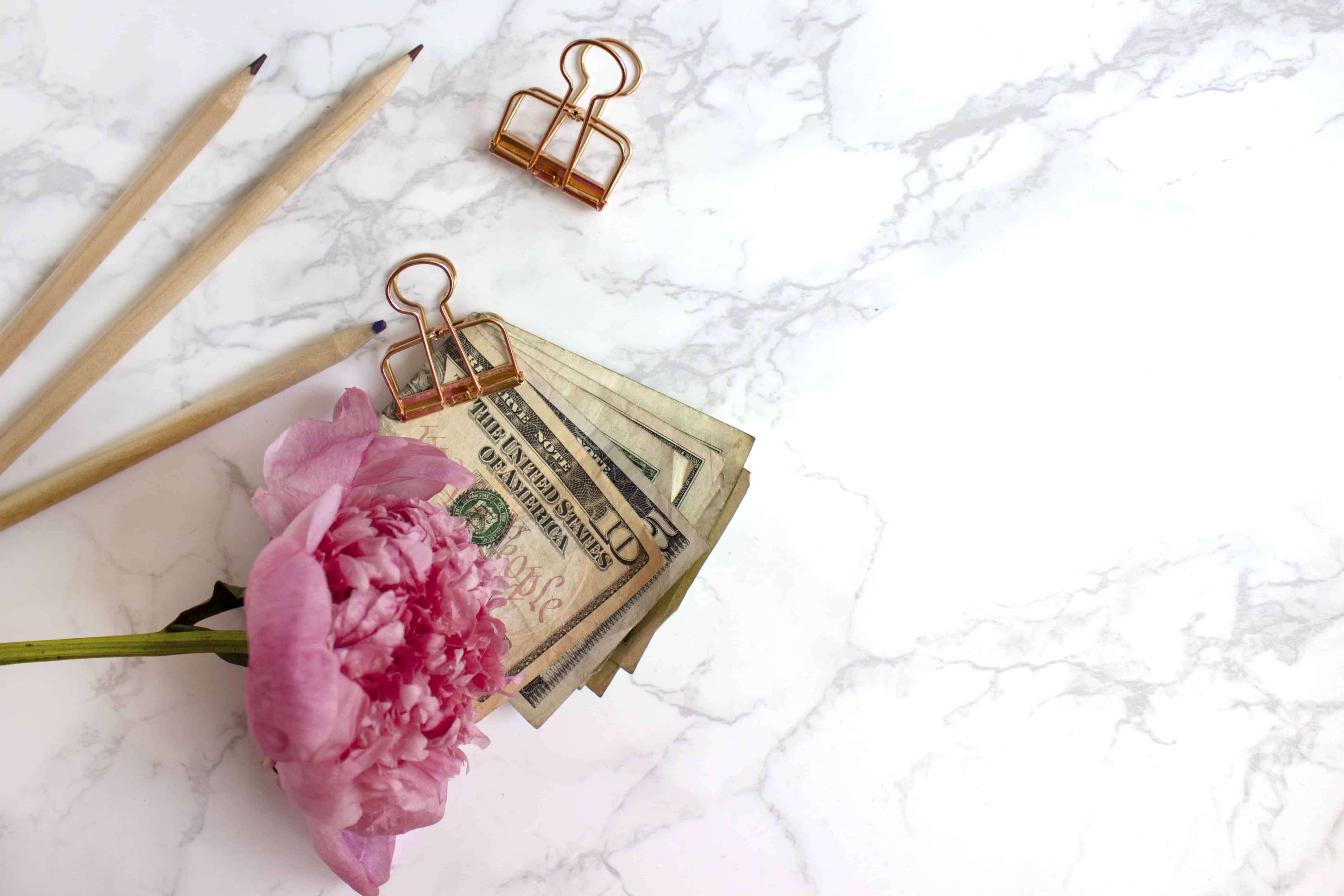 Money on counter - freelance writing