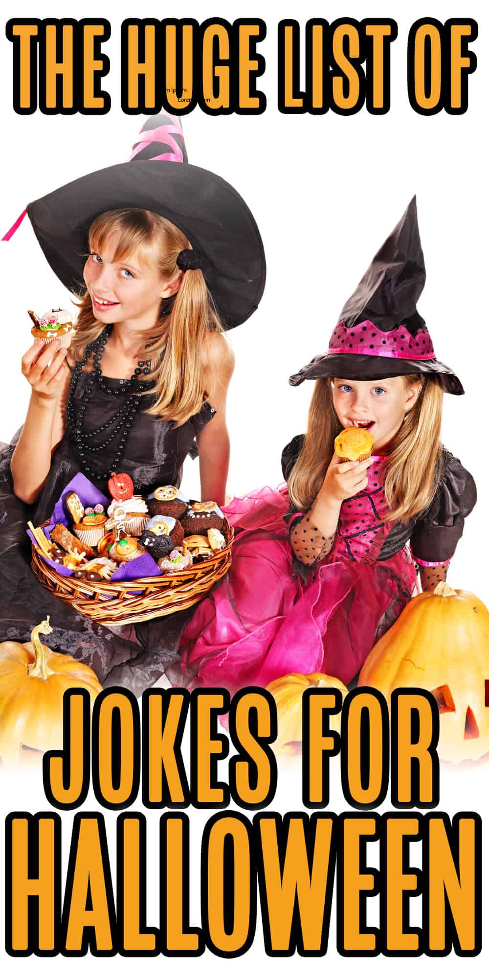 funny halloween jokes - girls in costume with halloween candy