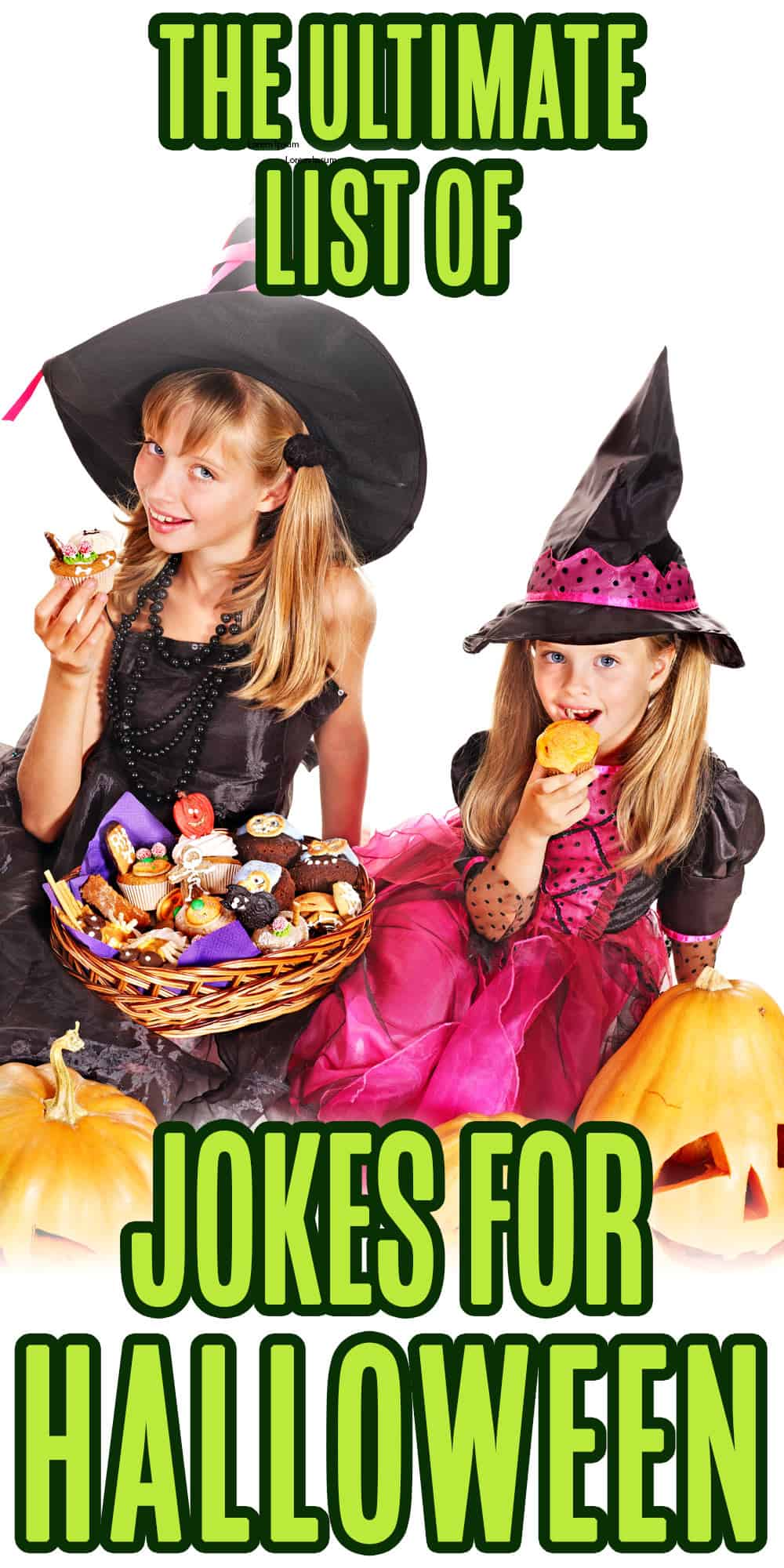 Funny Halloween Jokes kids love - kids in costume with halloween candy