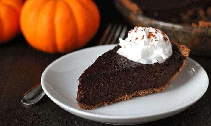 Vegan Chocolate Pumpkin Pie