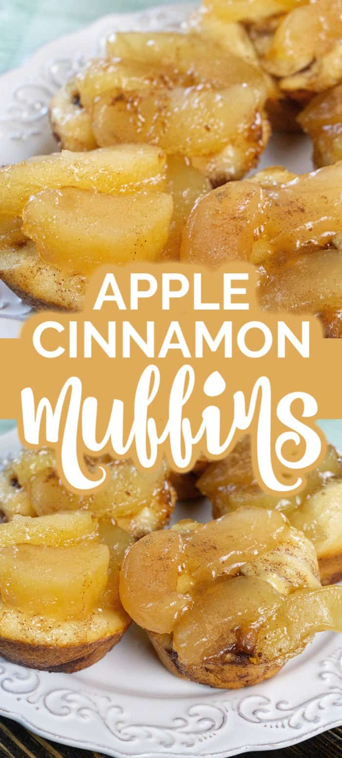 Apple Cinnamon Muffins on white plate
