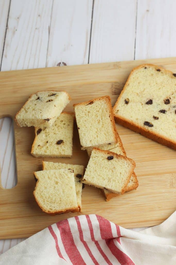 Chocolate Chip Brioche Bread on cutting board