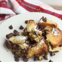 Chocolate Chip French Toast Bake