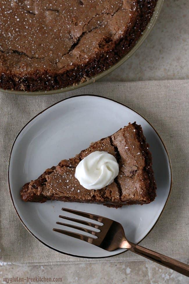 GF Double Chocolate Fudge Pie