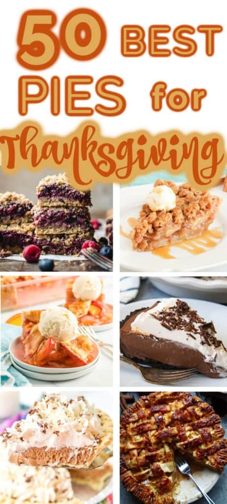 Thanksgiving Pies in collage image