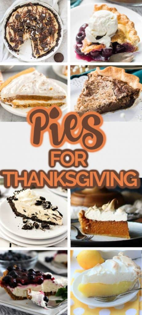 Thanksgiving Pies in a collage