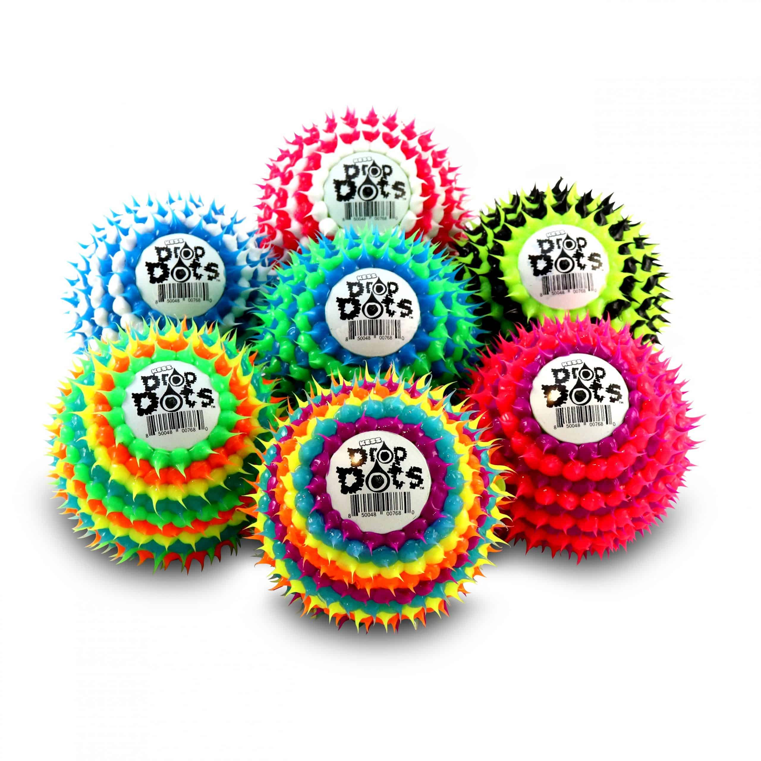 Drop dots toy balls in variety of colors