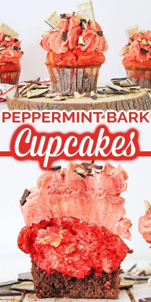 Peppermint Brownie Cupcakes