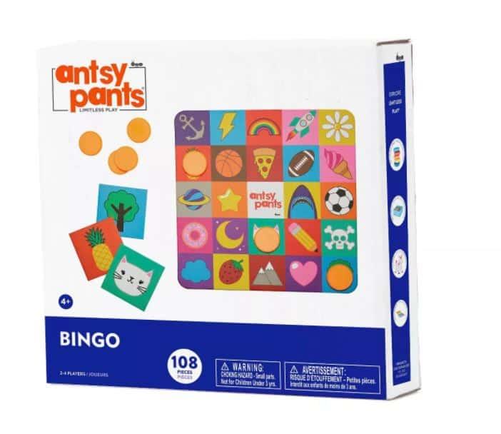 Antsy pants bingo game in box