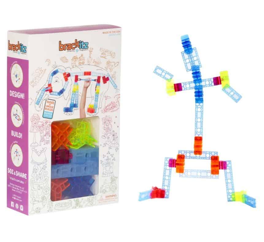 Brackitz block set with stick figure next to it