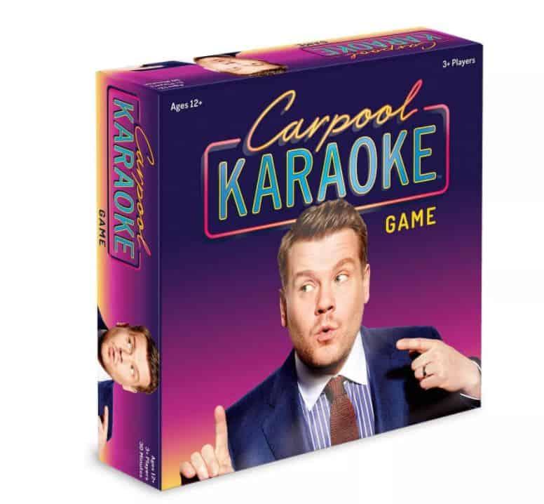 Carpool karaoke game in purple box