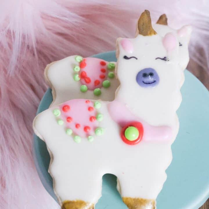 Crazy Cute Llama Cookies