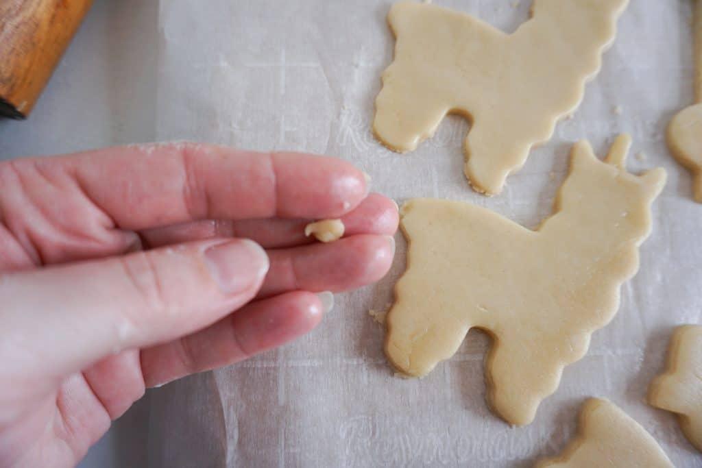 llama cookie dough after cut