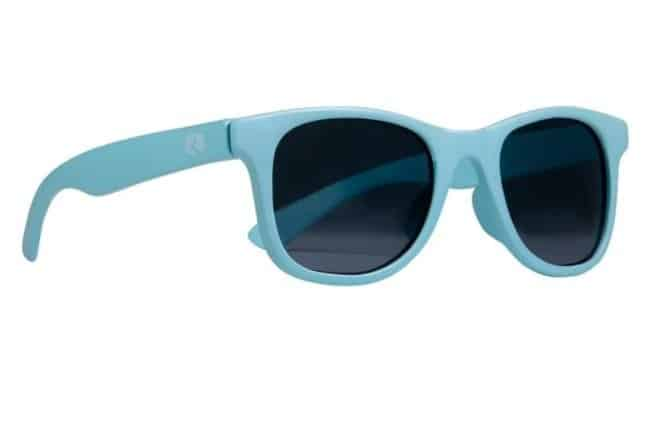 Blue sunglasses for kids on white background