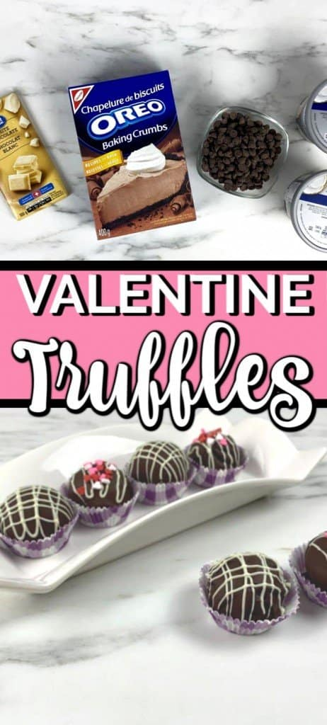 These Oreo Truffles are the perfect Valentines dessert. Make them for your sweetheart, your friends, or even your kids class party! Truffles are easy to make and delicious too! #valentinesday #oreotruffles #chocolatetruffles #valentinedesserts #chocolate