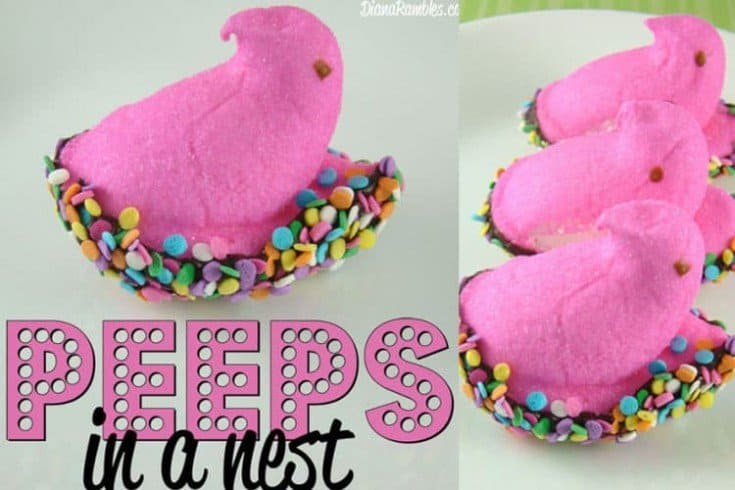 Peeps Marshmallow and Chocolate Bird Nest Easter Treats