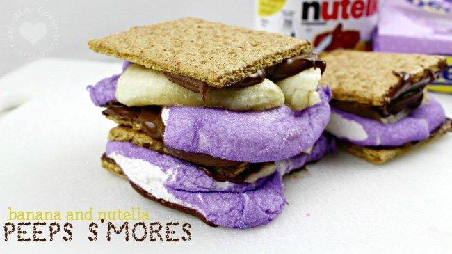 Banana Nutella Peeps S'Mores