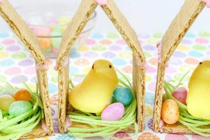 Peeps Chicks House - No Bake Easter Treats for Kids